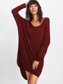 T-Shirt Kleid mit abfallendem Saum