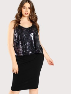 Spaghetti Strap Sequined Top