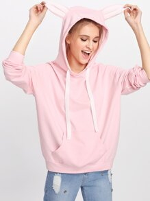 Kangaroo Pocket Front Cartoon Hoodie