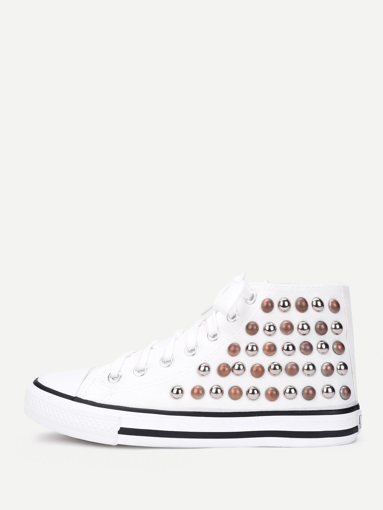Lace Up Studded Detail Slip On Sneakers телевизор lg 24lh451u