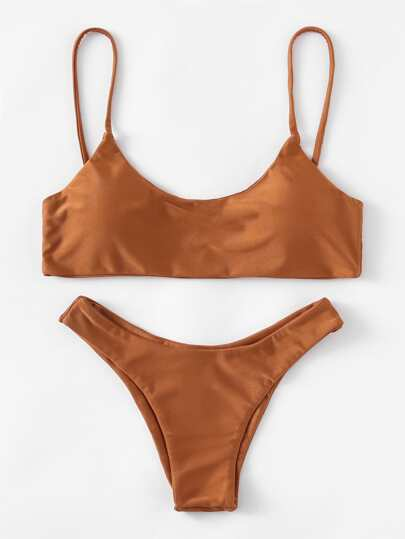 High Leg Cami Bikini Set