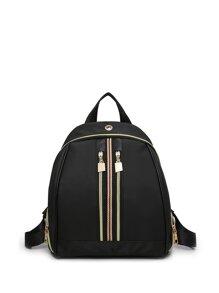 Zipper Detail Backpack