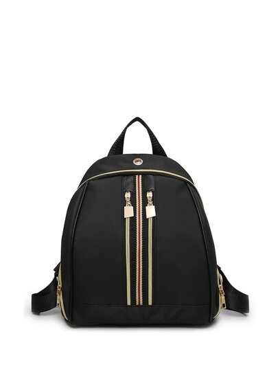 Zipper Detail Backpack