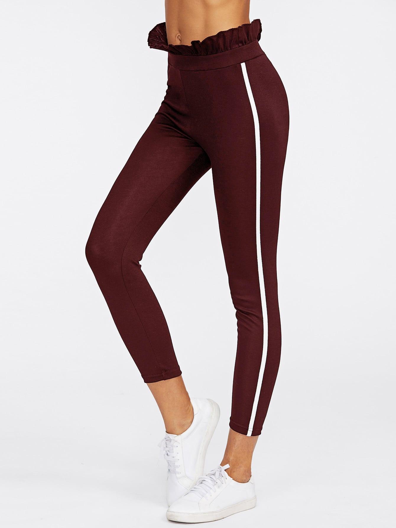 Ruffle Hem Skinny Pants