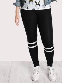 Striped Print Leggings