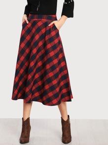 Tartan Plaid Circle Skirt