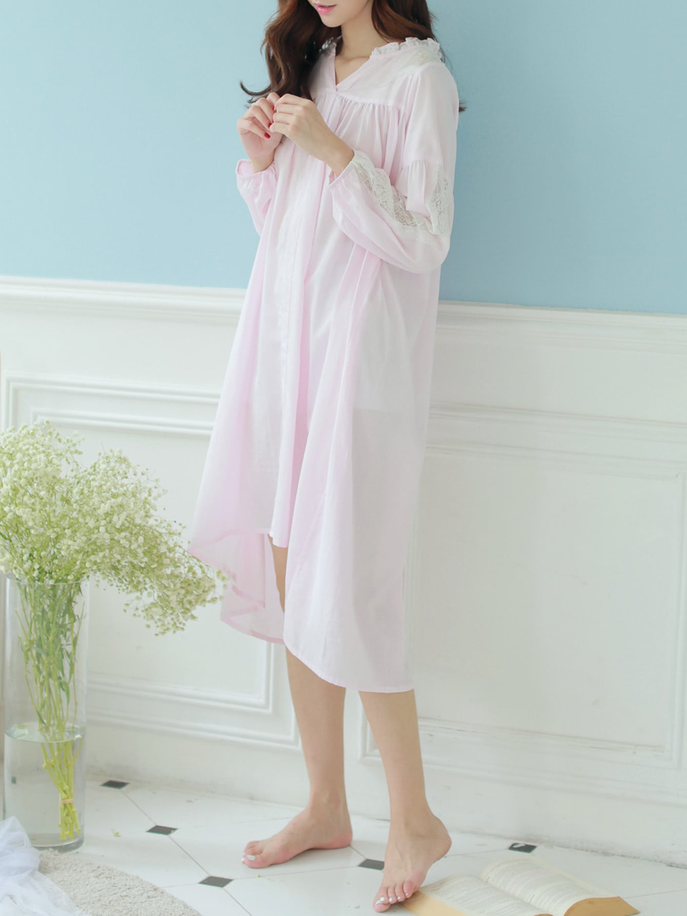 Contrast Lace Frill Trim Dress maison jules new junior s small s pink combo lace crepe contrast trim dress $89
