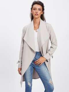 Belted Cuff Wrap Coat