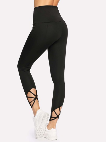 Hollow Back Skinny Leggings