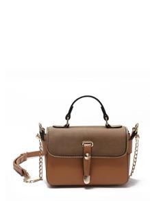 Zip Trim Detail PU Chain Bag