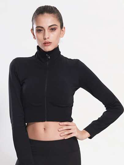High Neck Crop Jacket
