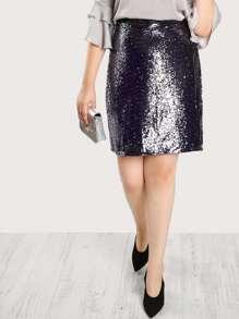 Multi Sequined Skirt