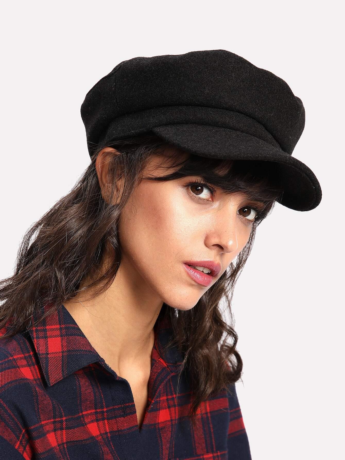 chapeau vendeur de journaux french romwe. Black Bedroom Furniture Sets. Home Design Ideas