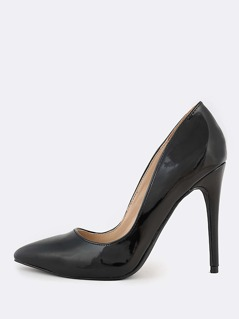 Solid Point Toe Pumps BLACK