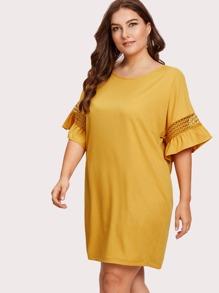 Hollow Cut Insert Sleeve Dress