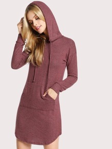 Knit Tunic Sweater Dress MARSALA