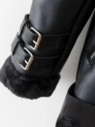 Faux Fur Lined Belted Jacket