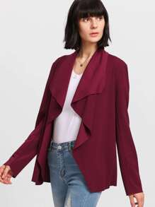 Waterfall Collar Solid Blazer
