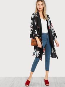 Kimono con estampado al azar