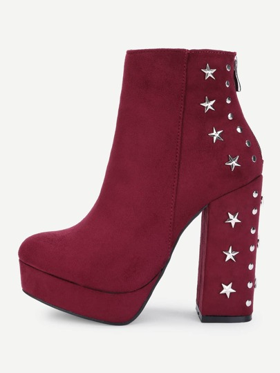 Stud & Star Back Ankle Boots