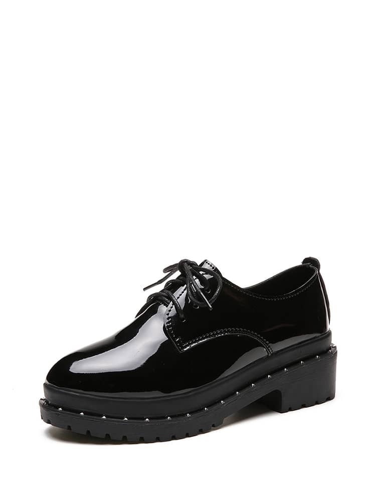 Studded Patent Leather Oxfords shoes171128324