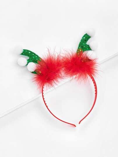 Christmas Sequin Antlers Headband