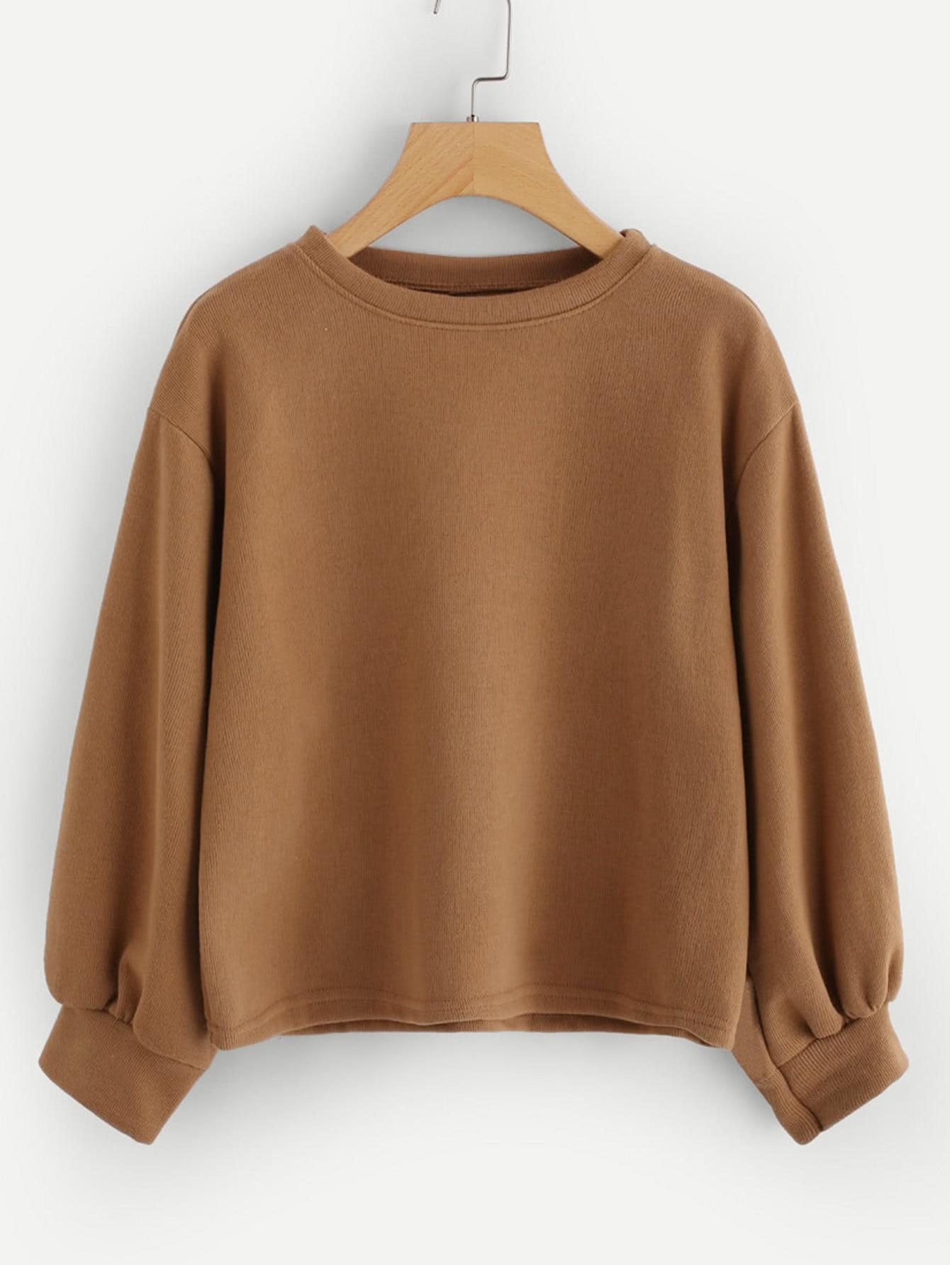 Lantern Sleeve Sweatshirt drop shoulder lantern sleeve sweatshirt