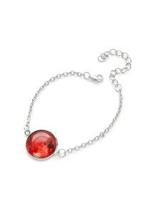 Luminous Round Charm Link Bracelet