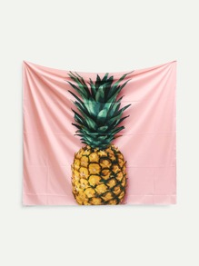 Contrast Pineapple Print Tapestry