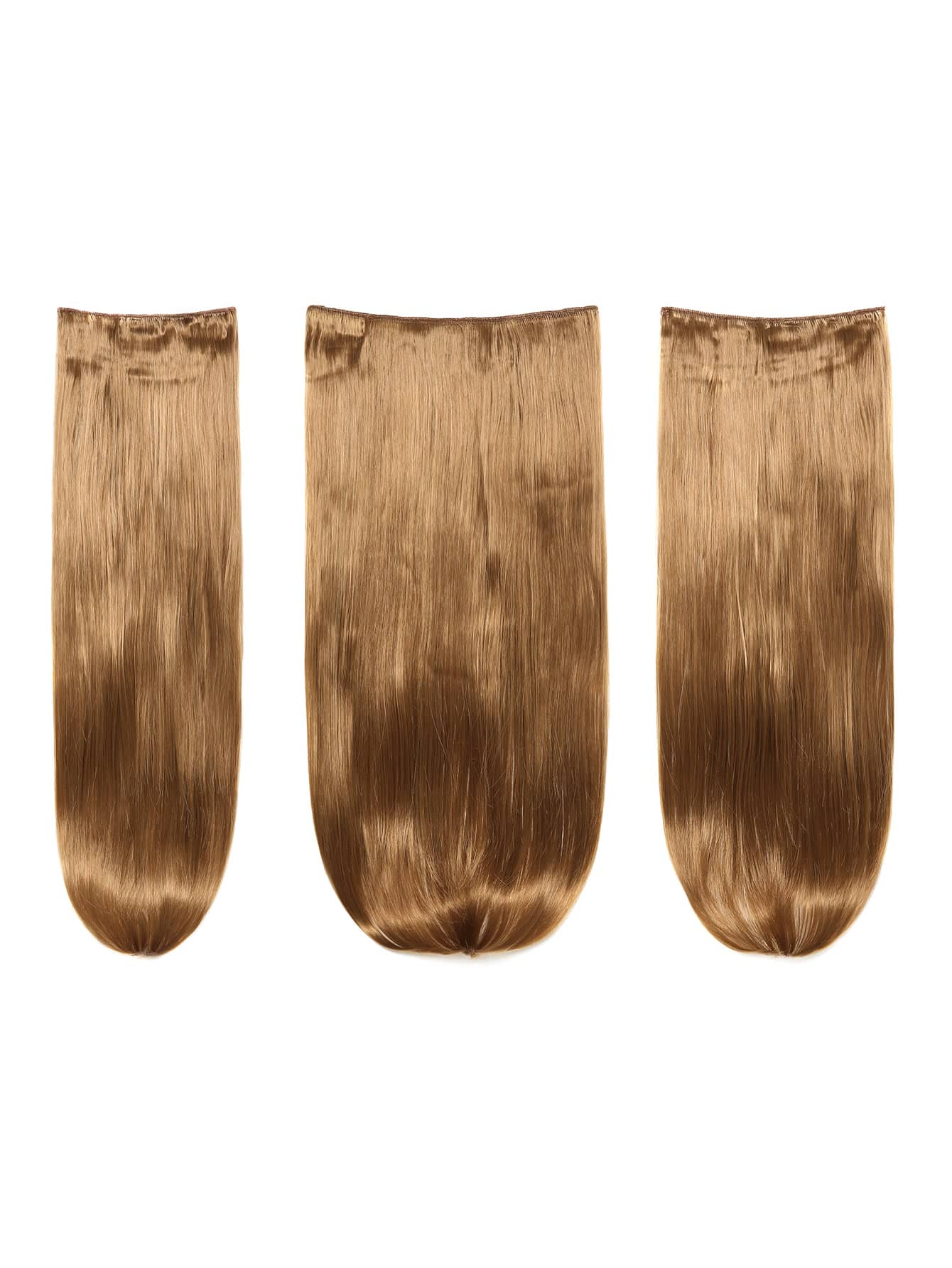 цена на Mix Auburn Clip In Straight Hair Extension 3pcs