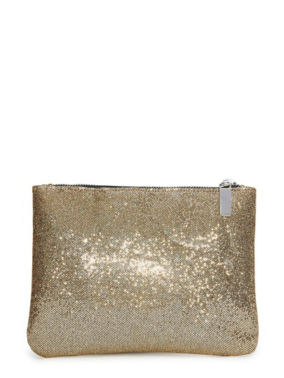 Sequin Zipper Pouch