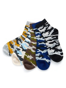 Colorblock Ankle Socks 5pairs