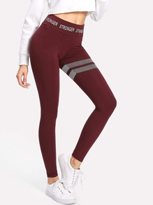Printed Wide Waistband Leggings