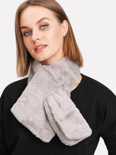 Faux Fur Tippet Scarf