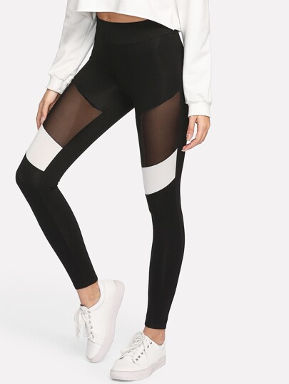 Leggings di due toni