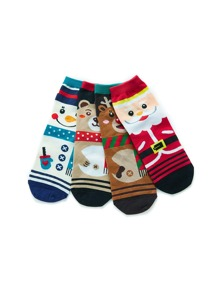 Christmas Santa Claus Pattern Socks 4pairs