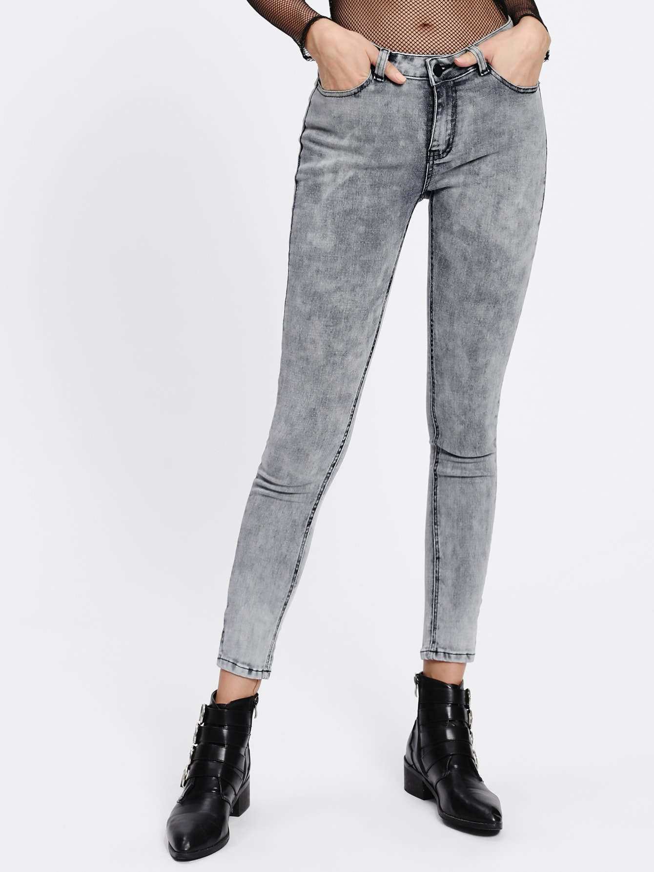 Image of Acid Wash Skinny Jeans