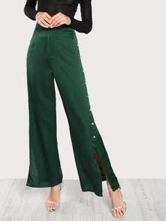 Pearl Beading Solid Pants