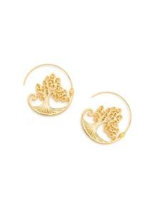 Tree Design Metal Earrings