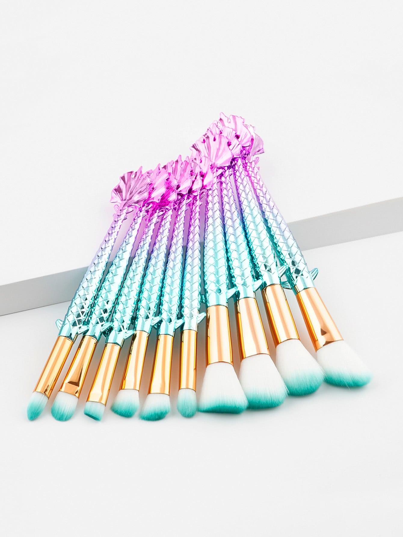 все цены на Ombre Handle Makeup Brush Set 10pcs онлайн
