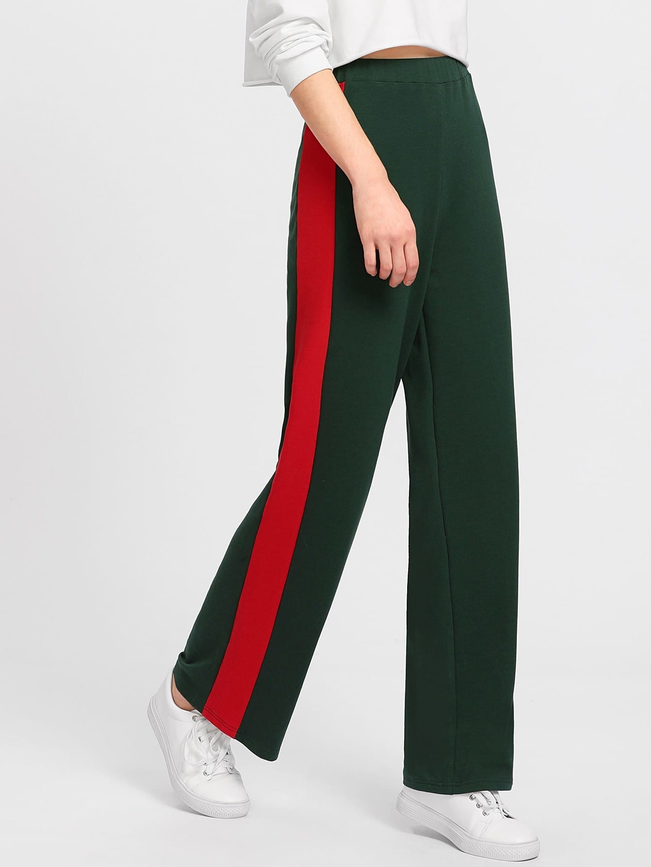 Image of Cut And Sew Panel Side Pants