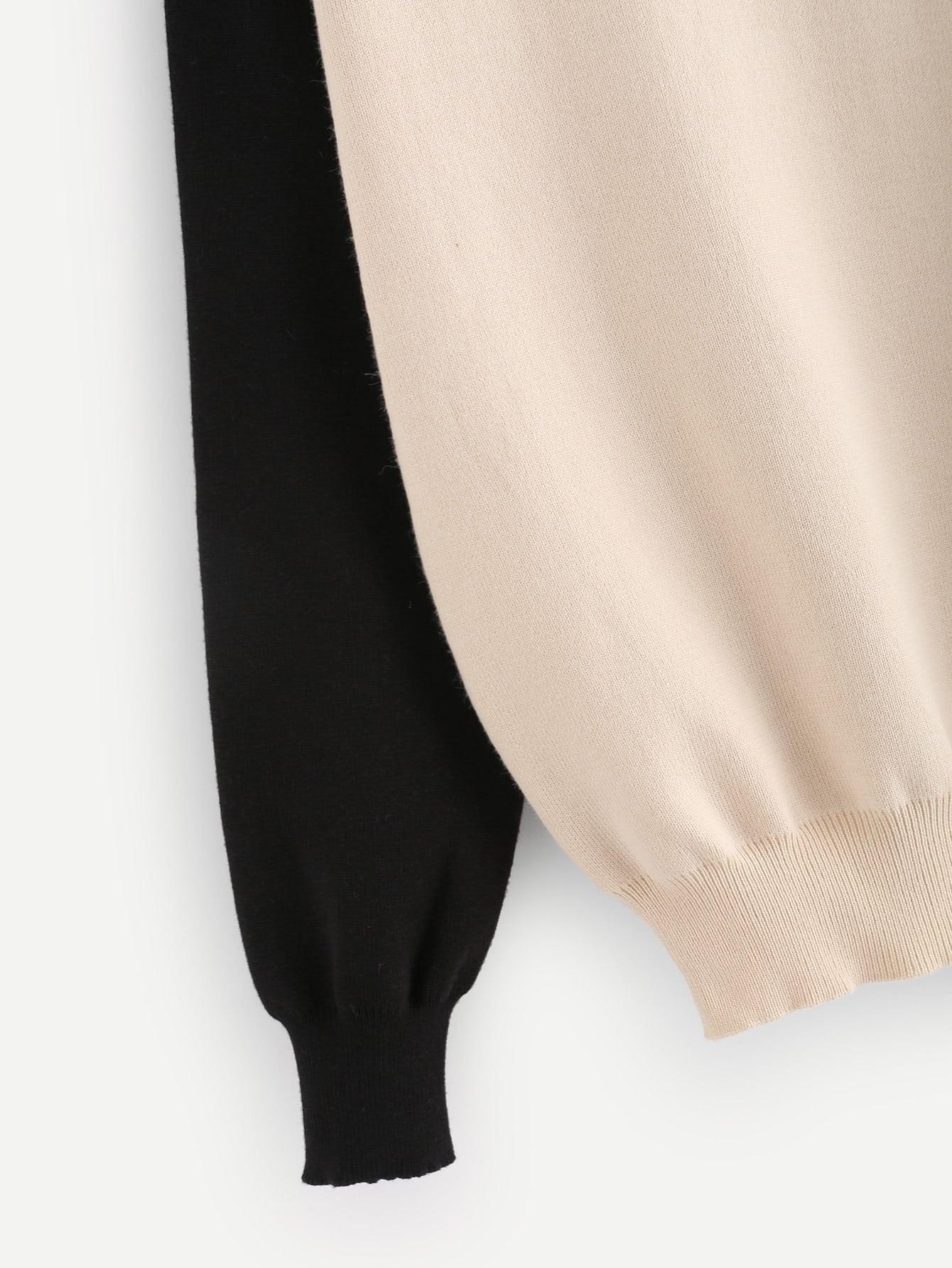 elbow patch template - contrast raglan sleeve elbow patch sweater shein sheinside