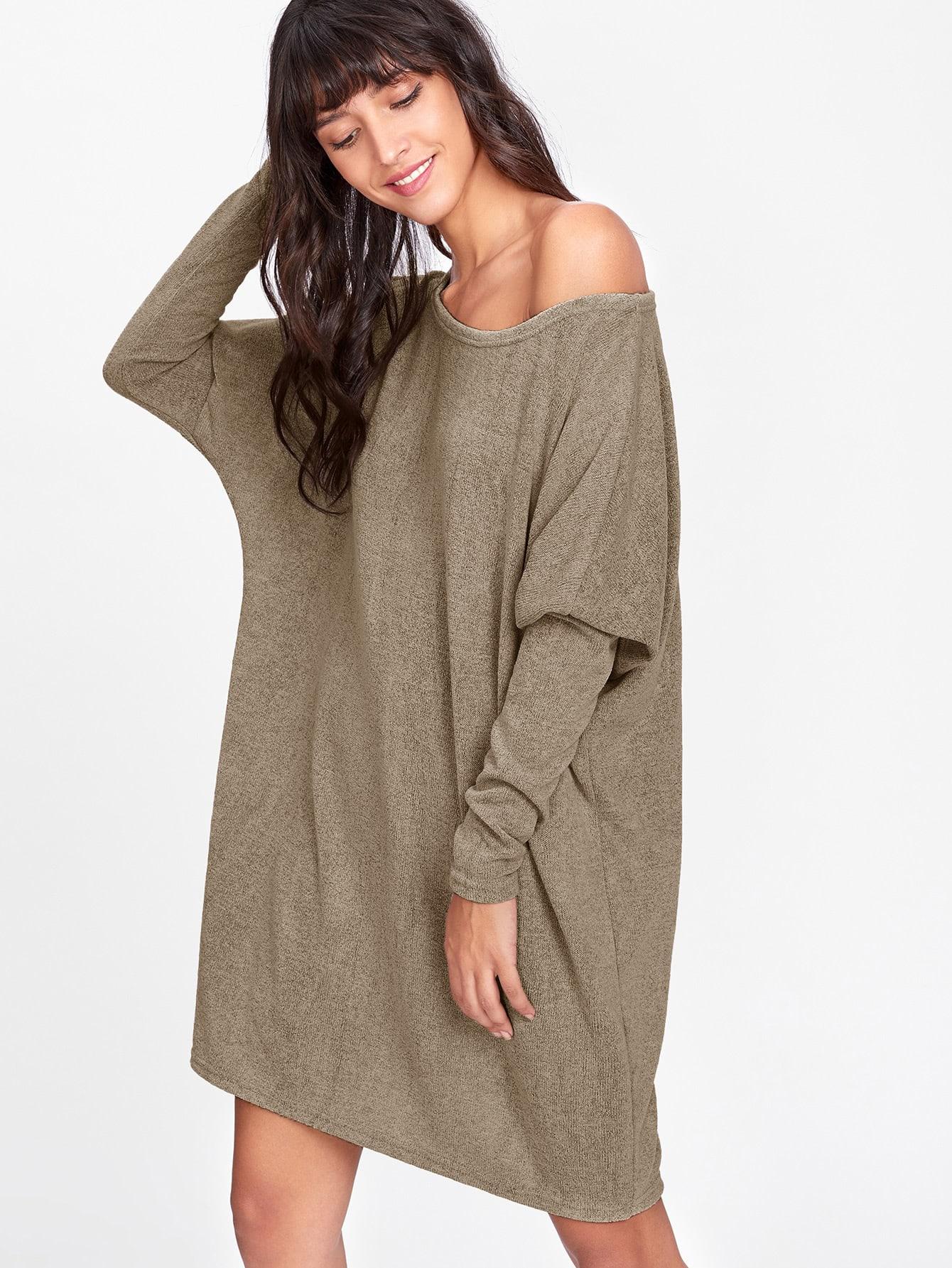 все цены на Batwing Sleeve Sweater Dress