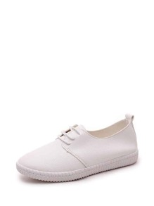 PU Lace Up Sneakers