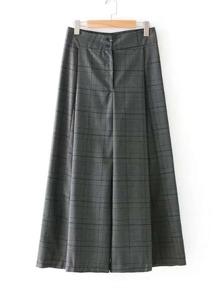 Модные клетчатые широкие брюки