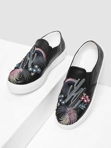 Scarpe da ginnastica con modello floreale