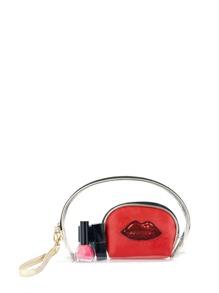 Lip Embroidered Makeup Bag 3pcs