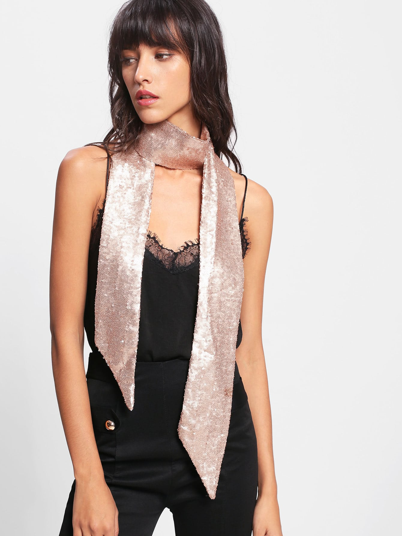 Sequin Skinny Scarf