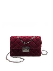 Quilted Velvet Chain Bag