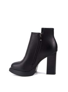 Side Zip Block Heel Boots